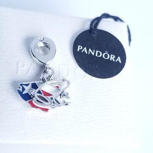 Pandora Love Puerto Rico Dangle Charm Silver